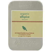 Tsp Spices Ground Organic Allspice, 12 One-teaspoon Packets, 8-Ounce Tins (Pack of 3)