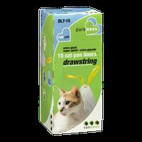 Van Ness Extra-Giant Drawstring Cat Pan Liners Val-Pak - 15 CT