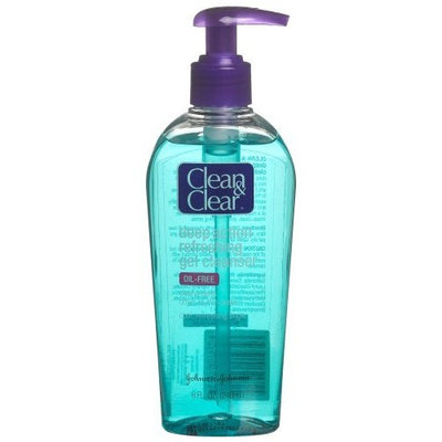 Clean & Clear Deep Action Refreshing Gel Cleanser, 8-Ounce Pump Bottles (Pack of 4)