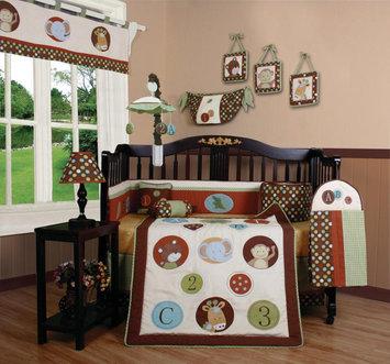 Geenny GEENNY Animal Scholar 13PCS Crib Bedding Set