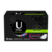 U by Kotex CleanWear Ultra Thin Heavy Flow Pads with Wings, 16 ct.