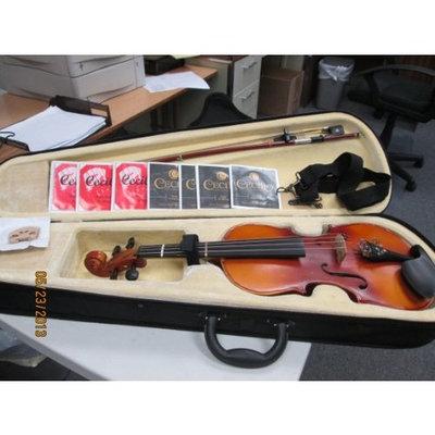 Cecilio CVA-500 13-Inch Ebony Fitted Solid Wood Viola