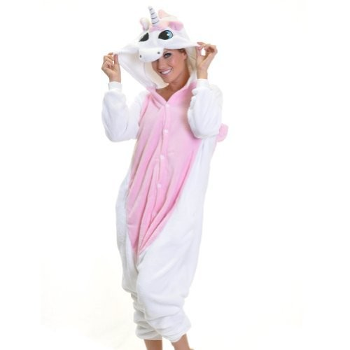 Angelina Unisex Plush Animal Onesies Pajamas #91158 [Unicorn, Small]