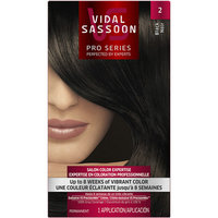 Vidal Sassoon Pro Series Hair Color 2 Black 1 Kit