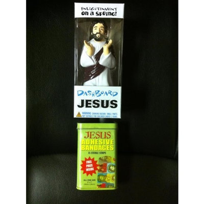 Adams Dashboard Jesus & Jesus Bandaids- Combo Gift Pack