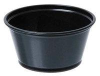 DIXIE P020BLK Souffle Cup,2 oz, Matte Black, PK2400
