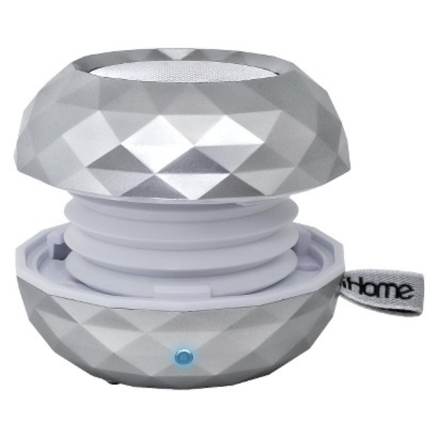 iHome Wireless USB Chargeable Portable Bluetooth Speaker - White