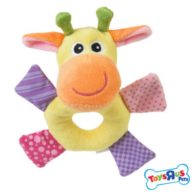 Toys R Us Monkey Rattle Dog Toy