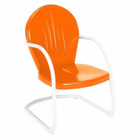 Jackpost Retro Chair, Orange, 1 ea