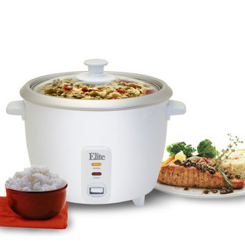 Elite by Maxi-Matic Cuisine 16-Cup Rice Cooker with Glass Lid