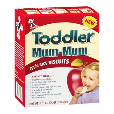 Hot-Kid Toddler Mum-Mum Rice Biscuits Apple - 20 CT