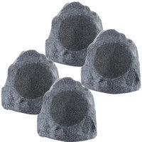 Theater Solutions 4R8G 2 Pairs of New 8 Woofers Outdoor Garden Waterproof Granite Rock Patio Speakers