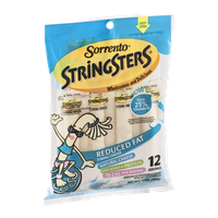 Sorrento Stringsters String Cheese Reduced Fat - 12 CT