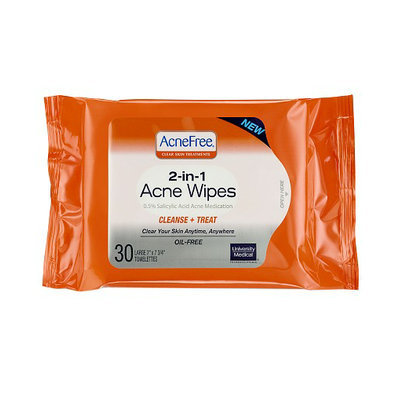 University Medical AcneFree 2-in-1 Acne Wipes