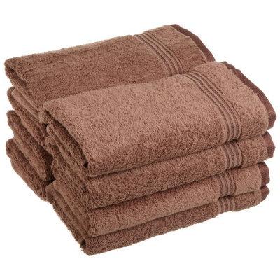 Blue Nile Mills 8-Piece Absorbent 100% Egyptian Cotton Hand Towel Set 600 GSM, Mocha