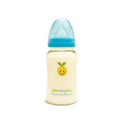 Green to Grow Mellow Colic-Relief Wide Neck Baby Bottle, 10 Ounce
