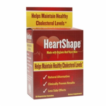 HeartShape Made with Organic Red Yeast Rice, Vegetarian Capsules, 60 ea