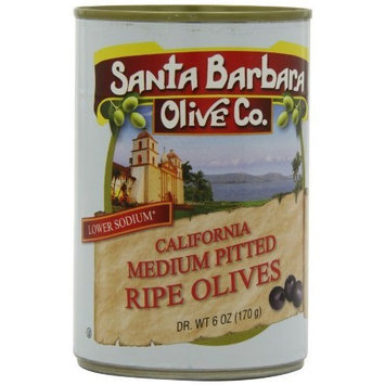 Santa Barbara Olive Co. California Medium Pitted Ripe Olives, 6 Ounce Tins (Pack of 12)