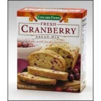Concord Foods Fresh Cranberry Bread Mix (Value Pack of 6 Boxes)14.1 oz. Boxes