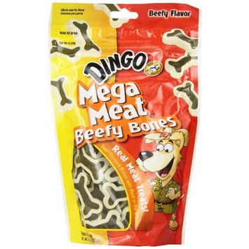 Dingo Mega Meat Bones Dog Treats, 6-Ounce