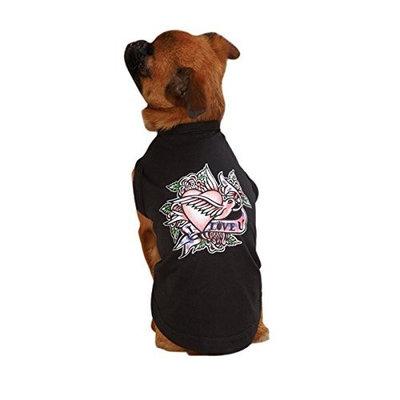 East Side Collection ESC Tattoo Pet Tee Shirt Heart