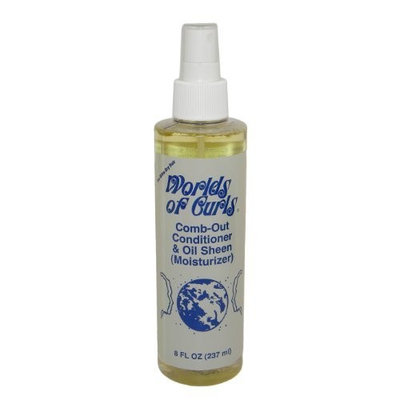 World of Curls Comb Out,Conditioner & Oil Sheen(Moisturizer) Extra Dry 8oz