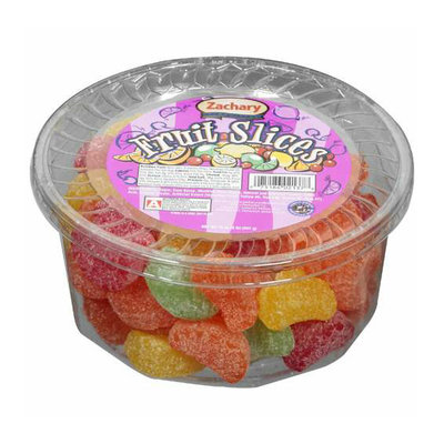 Zachary : Multi Colored/Coated In Sugar Fruit Slices