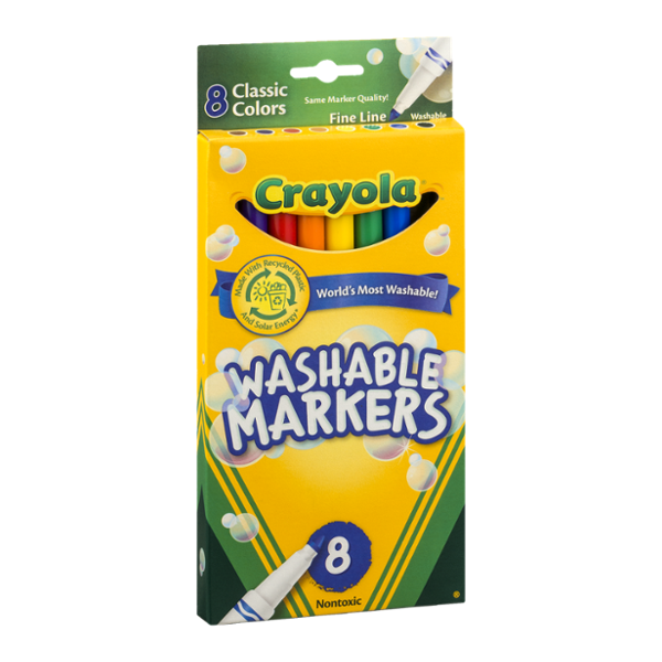Crayola Washable Markers Classic Colors Fine Line - 8 CT