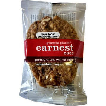 Earnest Eats Vegan Granola Planks High in Fiber, Omega-3s and Protein - Pomegranate Walnut Crisp - (Case of 6 - 3oz)