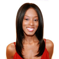 BEVERLY JOHNSON Human Lace Front Wig MIRACLE - Color #4/30 - Light Brown/Medium Brown Red