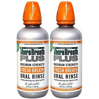 Dr. Katz TheraBreath PLUS Professional Formula Fresh Breath Oral Rinse - Extra Strength, 16 Ounce (Pack of 2)
