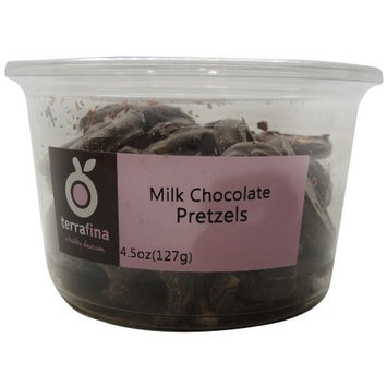 Terrafina Milk Chocolate Pretzels, 4-Ounce Containers (Pack of 4)