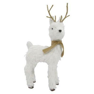 Modern Home Holiday Medium Décor White Reindeer