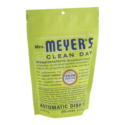 Mrs. Meyer's Clean Day Automatic Dish Packs Lemon Verbena - 20 CT