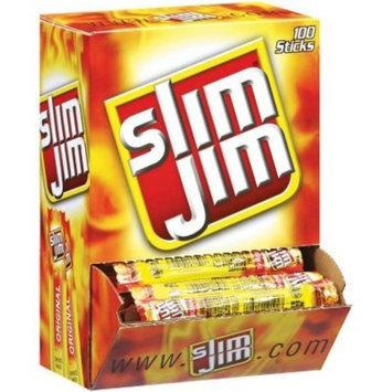 Slim Jim Smoked Snack Sticks, Original, 0.28-Oz (Pack of 100)