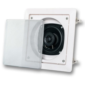 Acoustic Audio AS6S 200W Single Home Theater In-Wall/Ceiling Surround Speaker