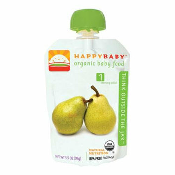 Happy Baby Organic Baby Food Stage 1 Pear 3.5 oz Case of 16