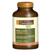 Simply NourishTM Shedding Plus Skin & Coat Dog Supplement
