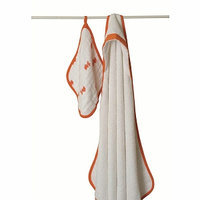 Aden + Anais Hooded Terry Towel and Muslin Washcloth Set