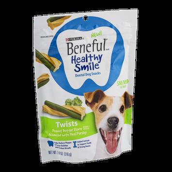 Purina Beneful Healthy Smile Dental Dog Snacks Twists SM/MED - 10 CT