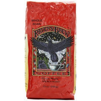 Raven's Brew Whole Bean Ebony Pearls, 12-Ounce Bags (Pack of 2)