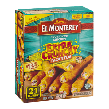 El Monterey Extra Crunchy Taquitos Southwest Chicken - 21 CT