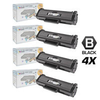 LD © Set of 4 Black Cartridges for the Samsung MLT-D104S for use in the ML-1665 Printers for ML-1665, ML-1661, ML-1666, ML-1667, ML-1675 and ML-1865W Printers