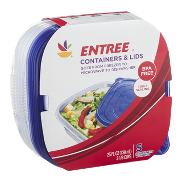 Ahold Entree Containers & Lids - 5 CT