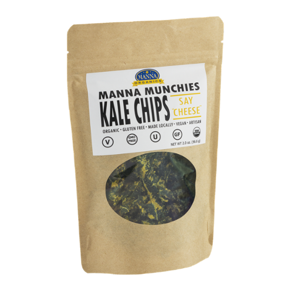 Manna Munchies Kale Chips Say Cheese