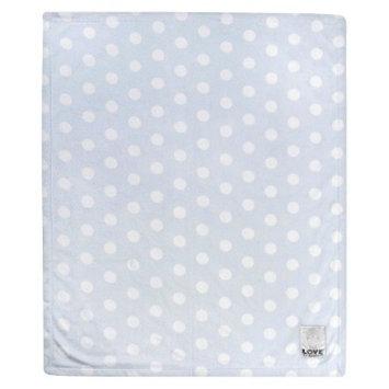 Love by Little Giraf LOVE Silky Dot Blanket Giraffe - White & Blue