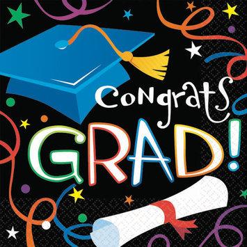 Amscan 202314 Grad Celebration Graduation Beverage Napkins