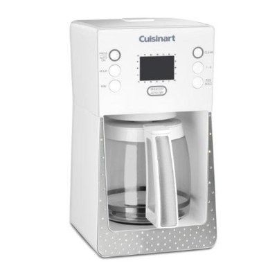Cuisinart Crystal 14-Cup Programmable Coffeemaker (white)