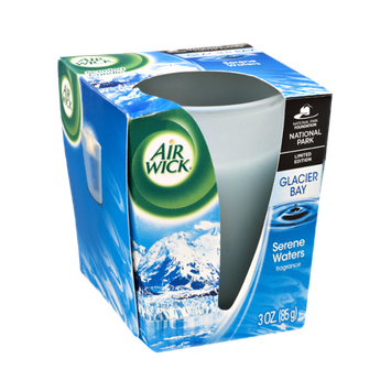 Air Wick Glacier Bay Serene Waters Fragrance Scented Candle