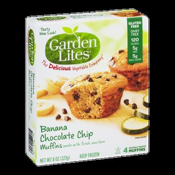Garden Lites Banana Chocolate Chip Muffins - 4 CT